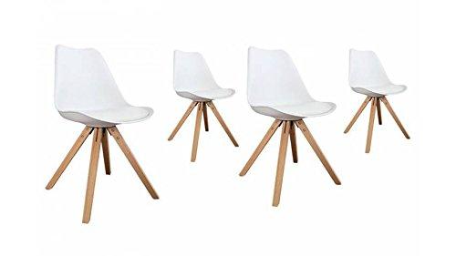 mobilier nitro Chaise Design Louis Blanche x4