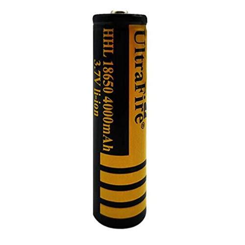 Batería de Litio Recargable 18650 Batería Recargable de 4000 mAh Batería de Litio de 3,7 V de Gran Capacidad Práctico Ventilador de Linterna de 4000 mAh Batería de Litio 18650 (4 Piezas)