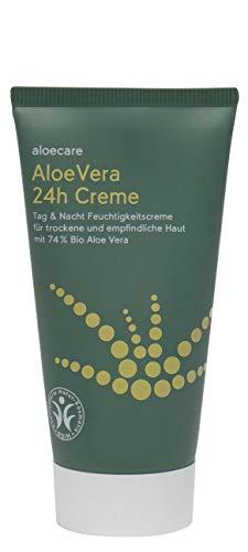 Aloe Vera Tagescreme Bio Aloecare Feuchtigkeitscreme feuchtigkeitsspendend Nachtcreme Aftersun...