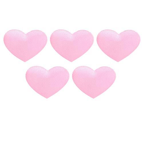 Eulbevoli Suministros para Bodas, decoración en Forma de corazón para Bodas, decoración en Forma de corazón Hecha a Mano, 500 Piezas/Bolsa, Aniversario(2.1cm Rosa 500 Piezas/Bolsa)