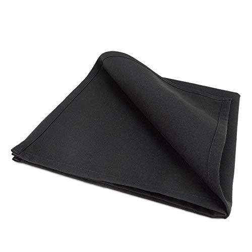 Treb SP - Servilletas de tela (10 unidades, 51 x 51 cm), color negro