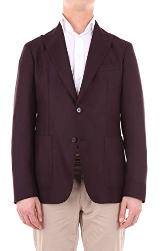 Luxury Fashion | Tagliatore By Pino Lerario Heren 1SMC26K12UIG204BURGUNDY Bordeaux Wol Blazers | Seizoen Outlet