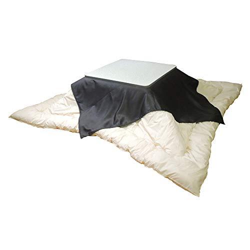 眠り姫 日本製 お手軽 上掛け マルチ ソファーカバー レザー風 黒 145×145cm 小判 正方形 洗濯可