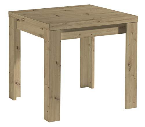0560_80x80 cm MONZI Asteiche Eiche Nb. Tisch Esstisch Auszugstisch Küchentisch Funktionstisch ausziehbar