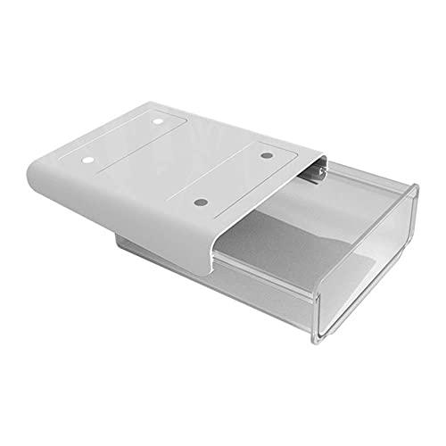 Cajón de plástico caja de almacenamiento cajón sin perforaciones escritorio de oficina oculto artículos de cocina caja de almacenamiento accesorios de cocina-S gris