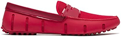 SWIMS Men& 039;s Penny Loafer Driver DT - rot Shine, 10
