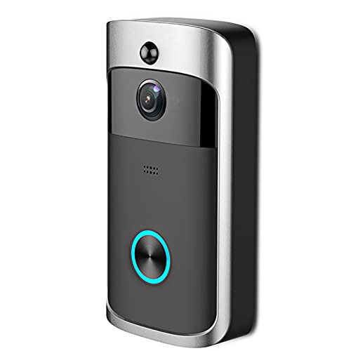 Galapara Timbre Inalámbrico,Timbre de Video inalámbrico 720P Intercomunicador Visual en Tiempo Real Timbre de Video WiFi Detección PIR Visión Nocturna Charla bidireccional Cámara de Seguridad