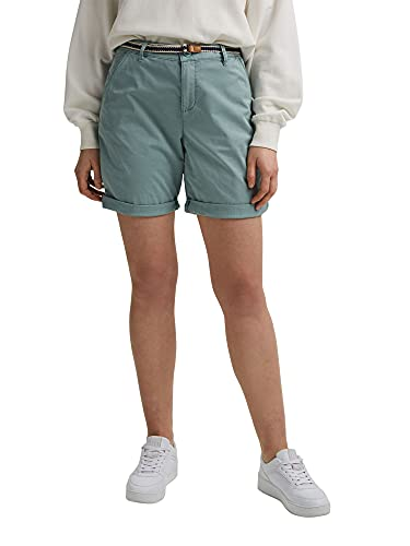 ESPRIT Damen Mit Gürtel, Bermuda Shorts, 470/TURQUOISE, 38