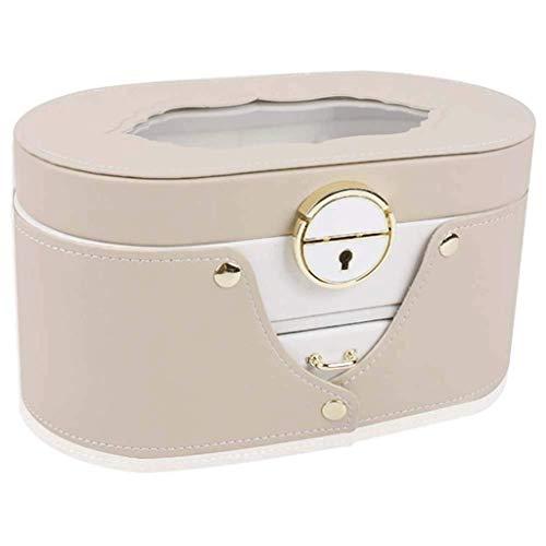 SHUMEISHOUT Schmuckschatulle und Schmuck Organizer Uhr Lagerung Schmuck Organizer verspiegelte Aufbewahrungskoffer Geschenk (Color : Pink)