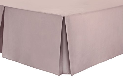 Nimsay Home Bettvolant aus Polyester-Baumwollmischgewebe, unifarben - Super King - Rose