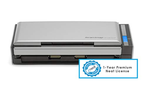 Fujitsu ScanSnap S1300i - Document Scanner - Dual CIS - Duplex - 8.5 in x 34.0 in - 600 dpi x 600 dpi - up to 12 ppm (Mono) / up to 12 ppm (Color) - ADF (10 Sheets) - USB 2.0