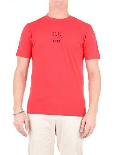 CP Company Heren Ronde hals T Shirt MTS155A 005100W Maat XL Oranje