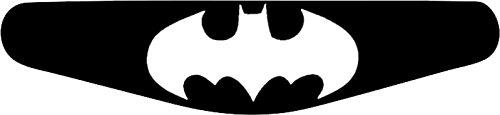 Autocollant pour barre lumineuse de manette PlayStation PS4Motif au choix Batman Classic (schwarz) noir