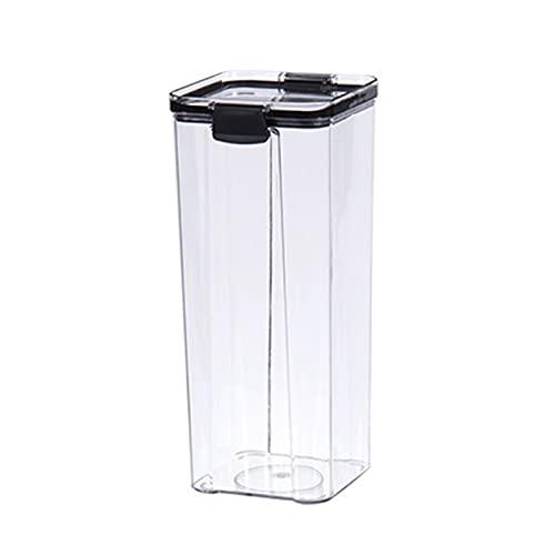 RoxNvm Botes Cocina, Recipientes para Cereales, Recipiente apilable para alimentos de cocina, recipiente de plástico para alimentos con tapa hermética para cereales, harina, azúcar, sin BPA (1800 ml)