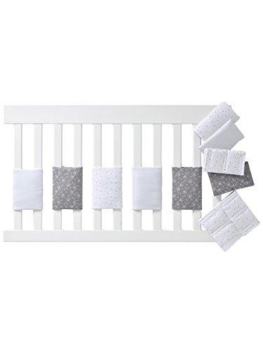 Vertbaudet Polster für Babybett-Gitterstäbe weiß Bedruckt ONE Size