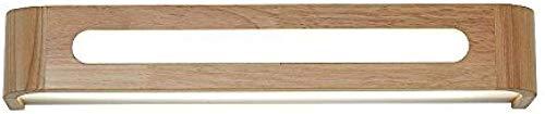 Meixian Wandlamp, eenvoudige Nordic massief hout, led-badkamerspiegel, schijnwerper, lengte 50 cm, eenvoudig retro