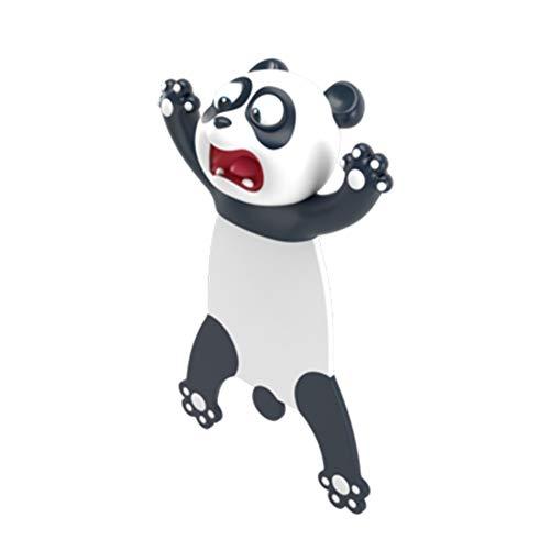 Asdomo - Segnalibro 3D a forma di cartoni animati simpatici segnalibri divertenti per studenti, cancelleria per bambini, ABS, Panda, 1 pezzo