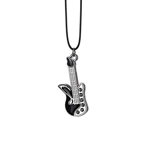 Adornos For El Coche Guitarra Colgante del Coche Decoración del Automóvil Interior del Automóvil Espejo Retrovisor Colgante Estilo Regalos For Amigos Decorate (Color Name : Silver)