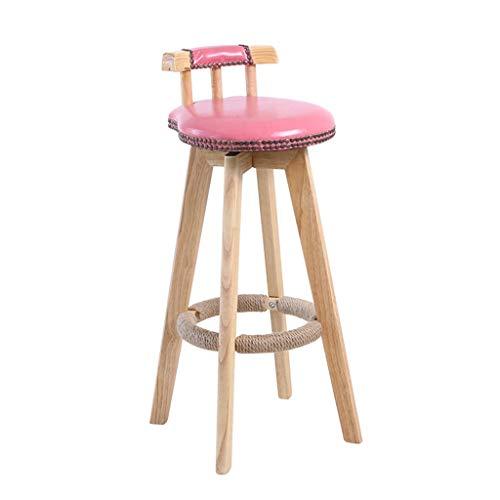 Tuqia houten barkruk, kunstleer, zitvlak creatieve voetsteunen, hoge kruk, kleine woning, verkoopafdeling, balkon, vrijetijdsstoel, woonkamermeubels stoelen