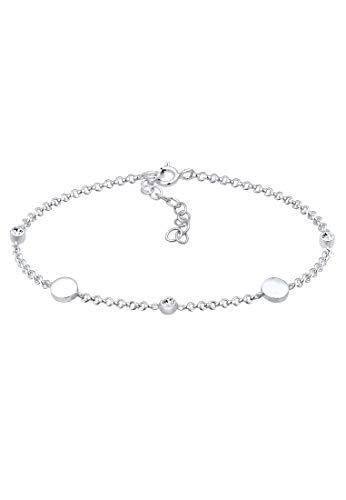 Elli Armband Damen mit Plättchen und Swarovski® Kristalle in 925 Sterling Silber