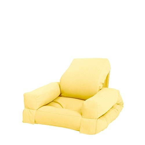 Karup Design Mini Hippo Kindersessel |Kinderstuhl Futonsessel und Kinder Bett für die Jugendzimmer | Kindermöbel in 7 Farben auswählbar| Farbe Gelb | Spielen . Enspannen . Wiederholen.