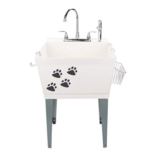 Laundry Sink Utility Tub With High Arc Chrome...