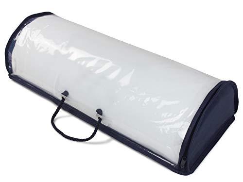Dormisette Kniehalbrolle oder Venenkissen – atmungsaktives Kissen für Rückenschläfer 892.1152, Kniehalbrolle [50 x 20 x 12 cm