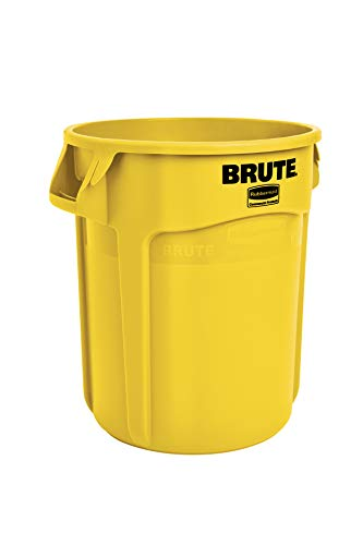 Rubbermaid Commercial Products Brute Round Container 75.7L - Yellow