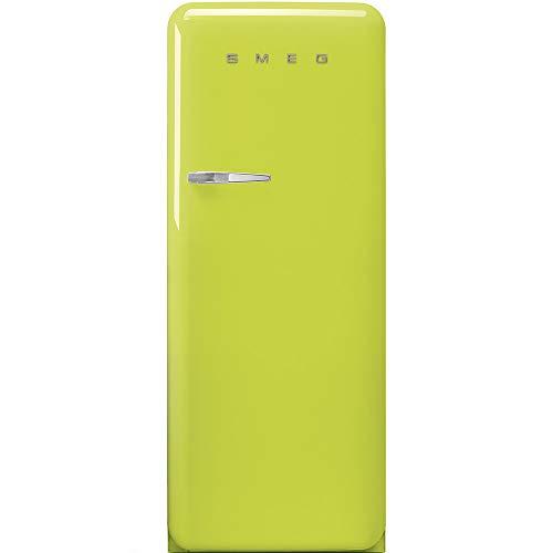 SMEG FAB28RLI3 - Frigorifero Monoporta con Congelatore SMEG Estetica Anni '50 Ventilato 270 Lt verde lime Apertura a destra Classe A+++