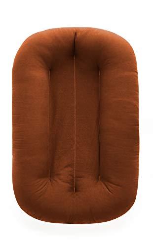 Snuggle Me Organic Bare | Baby Lounger & Infant Floor Seat | Newborn Essentials | Organic Cotton, Fiberfill |Gingerbread