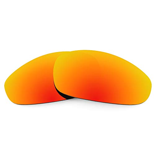Revant Ersatzgläser für Oakley Juliet, Polarisiert, Feuerrot MirrorShield