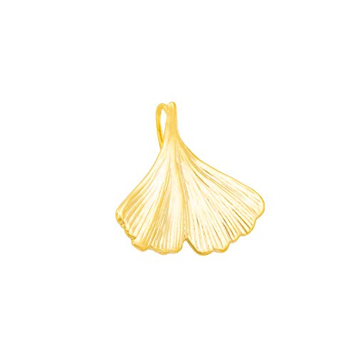 Anhänger Ginko Ginkgo Ginkgoblatt Damen 333 Gold Gelbgold Goldanhänger Glücksbringer 16mm