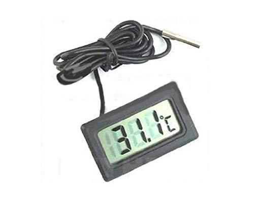 Thermomètre LCD numérique Contrôle de la température avec sonde Externe étanche pour réfrigérateur, Aquarium, réfrigérateur pour Aquarium Thermodétecteur de température d'eau Fishtank - Noir