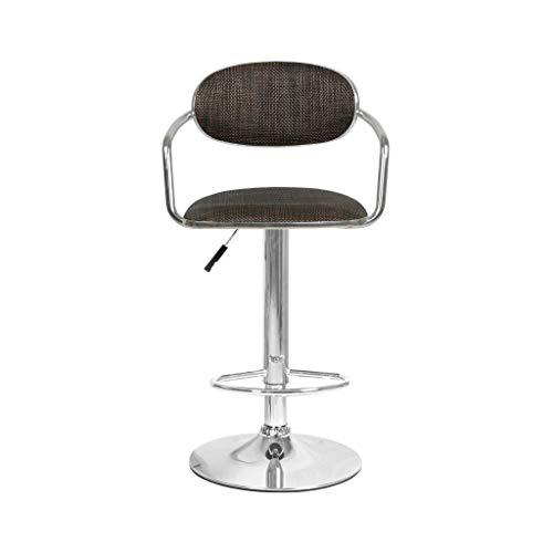 LXDDP Barhocker für das Büro, Art Barhocker Rattan Weave Seating, Bar Rückenlehne höhenverstellbar Spin Coffee Shop Restaurant Beige Brown
