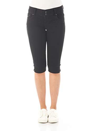 LTB Damen Capri Jeans Georget Cycle Short 3/4 Sommer Hose Denim Stretch Baumwolle W24 W25 W26 W27 W28 W29 W30 W31 W32 W33 W34, Größe:W 25, Farbvariante:Black to Black Wash (4796)