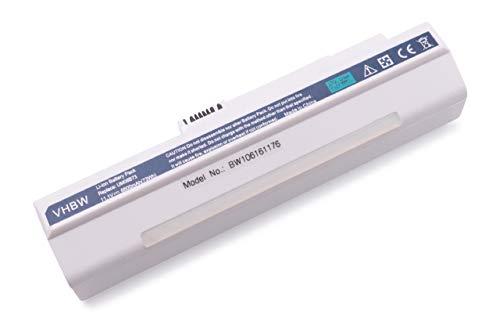 Batterie LI-ION 6600mAh 11.1V Blanc Compatible pour Acer Aspire remplace LC.BTP00.017, LC.BTP00.018 etc. pour Acer Aspire A110, A110L, A150 etc.