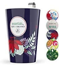 Steep Strain Ceramic Tea Mug Insulated Cup with Tea Infuser and Lid Purple Floral product image