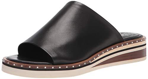 Vince Camuto Women's Meralda Wedged Slide Sandal, Black, 6.5 UK