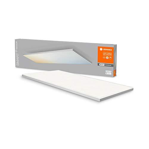 LEDVANCE Smarte LED Deckenleuchte, Panel für Innen mit WiFi Technologie, Lichtfarbe änderbar (3000K-6500K), 1200mm x 300mm, Kompatibel mit Google und Alexa Voice Control, SMART+ WIFI PLANON FRAMELESS