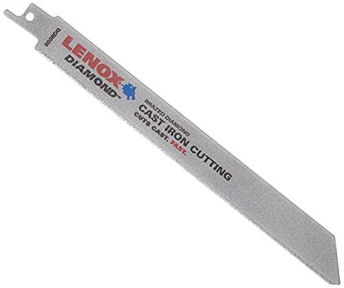 LENOX Tools Reciprocating Saw Blade, Diamond Grit, 8-Inch (10833800RDG)