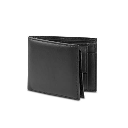 CAMPO MARZIO - Portafoglio uomo in pelle classico con portamonete e 7 scomparti per le carte di credito