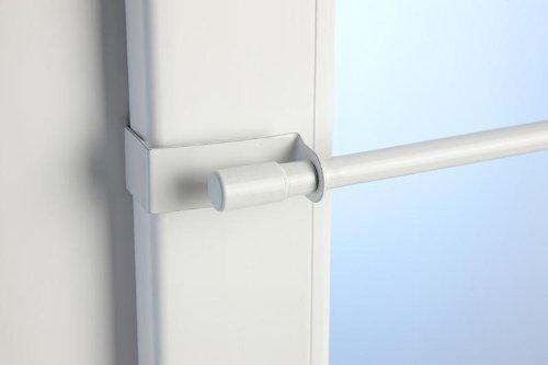 cg-sonnenschutz Klemmstange Easy Fix 2 Größen 2 Farben ausziehbar ohne Bohren Vitrage zum Klemmen Klemmstange 75-125cm weiß