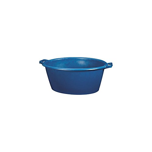 Aluminium et Plastique RIVBQOV Baquet Ovale Plastique Bleu 45 L