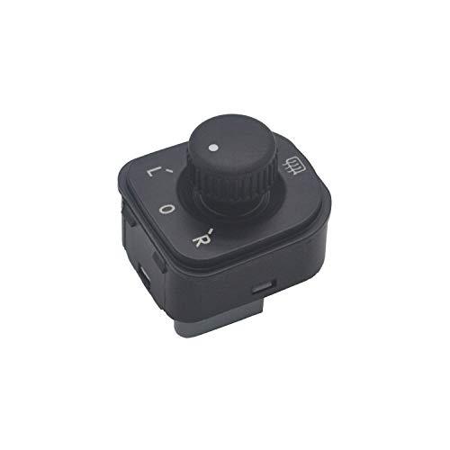 ZEALfix Perilla de ajuste de energía eléctrica Interruptor de control del espejo lateral 1K0959565H Golf 5 Jetta MK5 Pessat