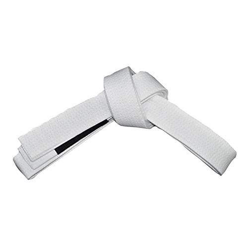 ROX Fit BJJ Belt Adult Size - Erwachsenengröße Brasilianischer Jiu-Jitsu-Gürtel aus 100% Baumwolle für langlebiges und leichtes Design Für den Wettbewerb geeignet BJJ Gi Belts Weiß (A1 (260 cm))