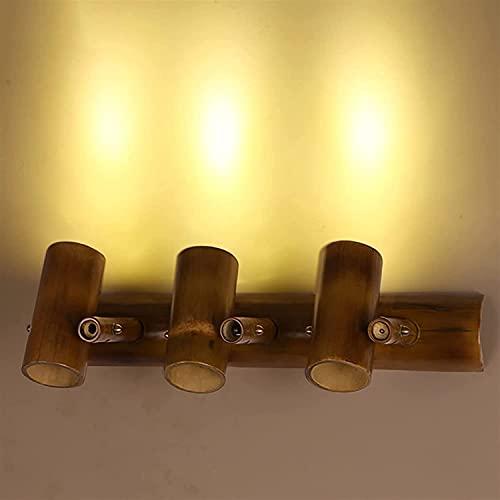 Praee American Village Vintage Wall Light Creative Led Spotlight Tres Cabezas Personalidad Sconco Monte Lámpara de Lectura Puerta Interior Almacén Sala de Estar Cocina Rústico Moderno