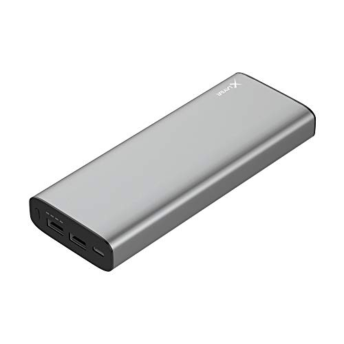 XLayer Powerbank PLUS kompatibel mit MacBook 20.100mAh, Zusatzakku kompatibel mit MacBook oder MacBook Pro, Space Grey