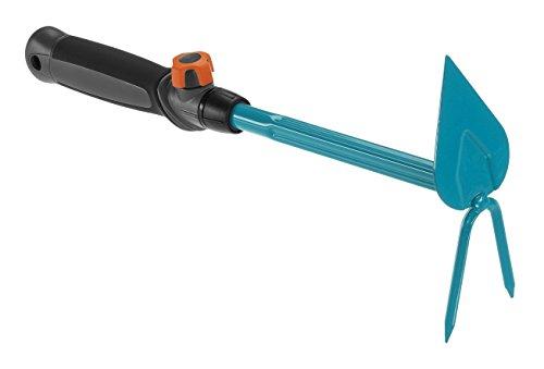 Gardena combisystem-Kleinhäckchen: 2-Zinken-Doppelhacke zum Lockern des Bodens, Arbeitsbreite 6 cm, spitze Form, ergonomischer Griff, Korrosionsschutz (8911-20)