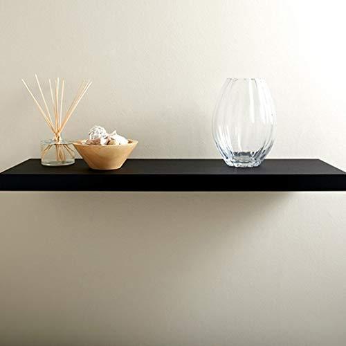 Zwevende houten planken, wandplank, 3 cm dik, met metalen standaard 30 * 15 * 3cm Zwart