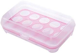 HUICHEN Kitchen Supplies 15 Grid Transparent Egg Refrigerator Storage Box Portable Outdoor Anti-Collision Plastic Egg Box ...